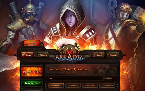 Screenshot of Support Page cityofsteam.com - Support - City of Steam:Arkadia Official Website - captured Oct. 31, 2014