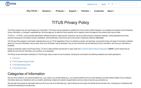 TITUS | Classify, Protect and Confidently Share Data