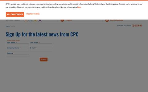 Screenshot of Signup Page cpcworldwide.com - Sign Up : CPC - captured Sept. 25, 2018