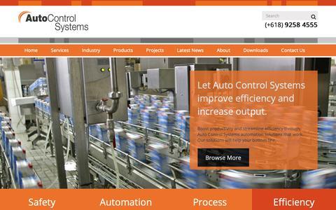 Screenshot of Home Page autocontrols.com.au - Home - Auto Control Systems – Automatic Success - captured Oct. 4, 2018