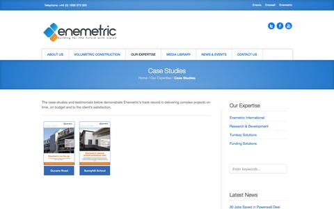 Screenshot of Case Studies Page enemetric.co.uk - Case Studies ‹ enemetric - captured Oct. 2, 2014