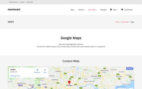 Screenshot of Maps & Directions Page morionart.com - Maps — morionart - captured Sept. 20, 2018