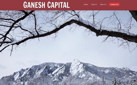 Screenshot of Contact Page ganeshcapital.com - Contact Us | Ganesh Capital | Ganesh Capital - captured Dec. 7, 2015