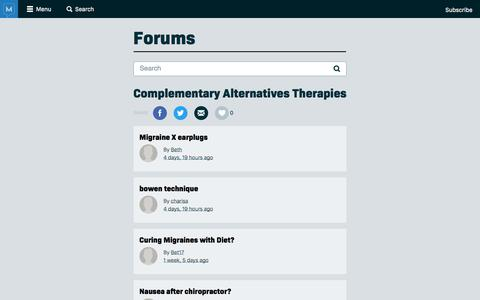 Complementary Alternatives Therapies - Migraine.com