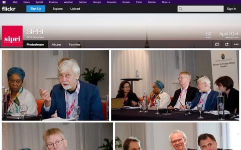 Screenshot of Flickr Page flickr.com - Flickr: SIPRI Stockholm's Photostream - captured Oct. 23, 2014