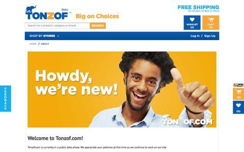 Screenshot of About Page tonzof.com - Tonzof.com - captured Sept. 17, 2014