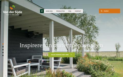 Screenshot of Home Page vandersijdehout.nl - Home | Van der Sijde Hout B.V. - captured Oct. 18, 2018