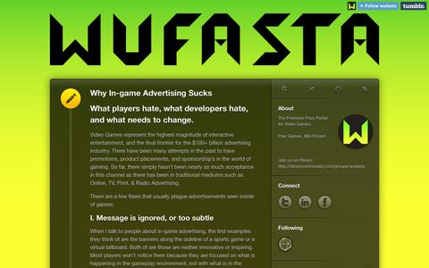 Screenshot of Blog wufasta.co - Wufasta - captured Sept. 30, 2014
