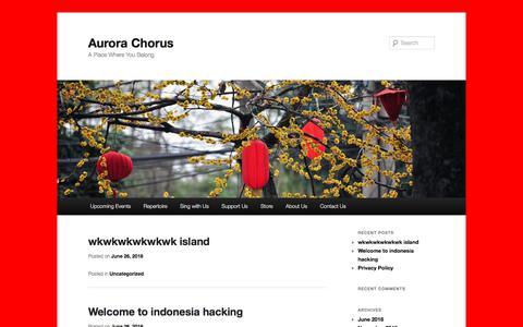Screenshot of Home Page aurorachorus.org - Aurora Chorus   A Place Where You Belong - captured July 31, 2018