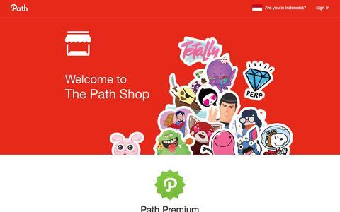 Screenshot of path.com - Path - Social - captured Jan. 6, 2017