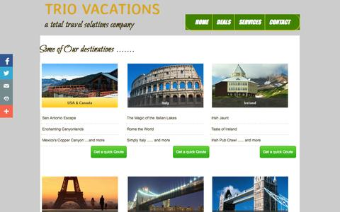 Screenshot of Privacy Page triovacations.com - World - captured Oct. 8, 2014
