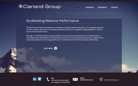 Screenshot of Home Page clarland.com - Clarland Group LLC - captured Sept. 19, 2015