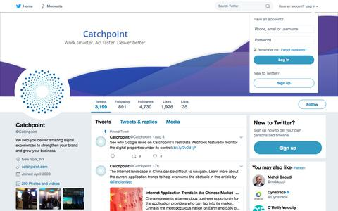 Catchpoint (@Catchpoint)   Twitter