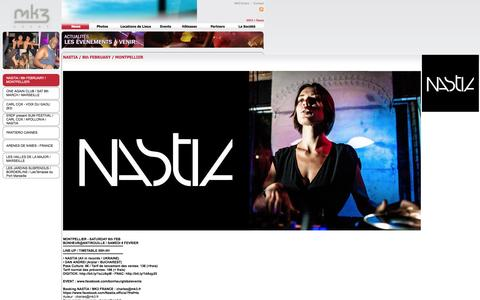Screenshot of Press Page mk3.fr - NASTIA / 8th FEBRUARY / MONTPELLIER - captured Oct. 3, 2014
