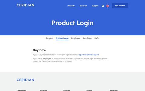 Screenshot of Login Page ceridian.com - Customer Login Links for Powerpay | Ceridian Canada - captured Sept. 27, 2018