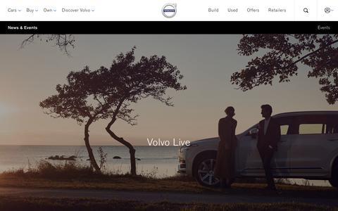 Screenshot of Press Page volvocars.com - News & Events | Volvo Cars UK Ltd - captured Nov. 14, 2017