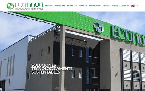Screenshot of Home Page econovo.com.ar - ECONOVO – Tecnología Sustentable   - captured July 8, 2017