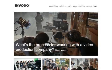 Screenshot of Blog invodo.com - Invodo Visual Content & Video Marketing Blog - captured Sept. 27, 2017