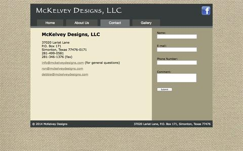 Screenshot of Contact Page mckelveydesigns.com - Contact Us   Houston Remodeling   Houston Home Remodel - captured Oct. 27, 2014