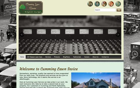 Screenshot of Home Page cumminglawnservice.com - Cumming and Alpharetta Lawn Services and Landscaping - captured Nov. 5, 2018