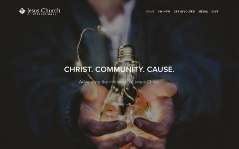 Screenshot of Home Page jesuschurchinternational.com - Jesus Church International - captured Oct. 22, 2018