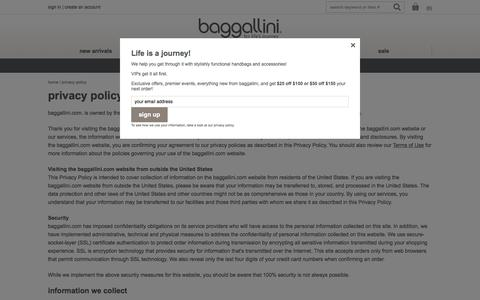 Privacy Policy | baggallini