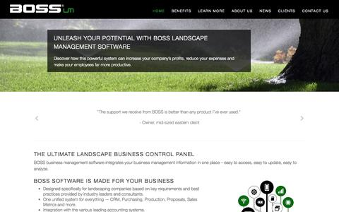 BOSS Landscape Management Software | Professional Landscape Business Management Software