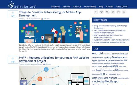 Mobile app - Online marketing - Web development blog