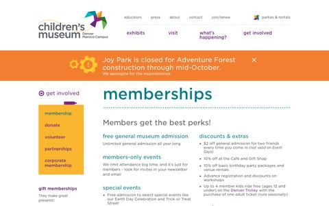 Screenshot of Signup Page mychildsmuseum.org - Membership - Join | Children's Museum of Denver - captured Sept. 27, 2018