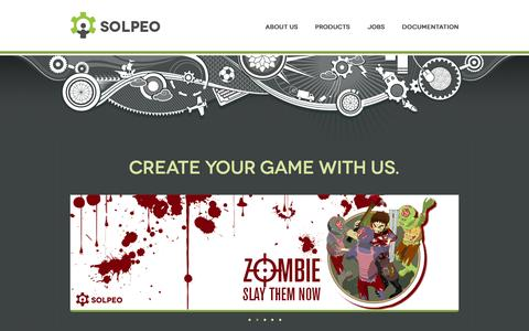 Screenshot of Home Page solpeo.com - Solpeo - isometric HTML5 engine and scalable backend - captured Sept. 19, 2014
