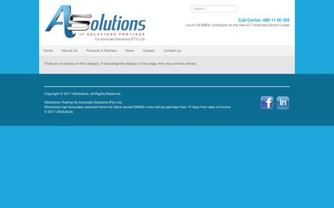 Screenshot of Jobs Page asolution.co.za - Careers - captured Oct. 7, 2017