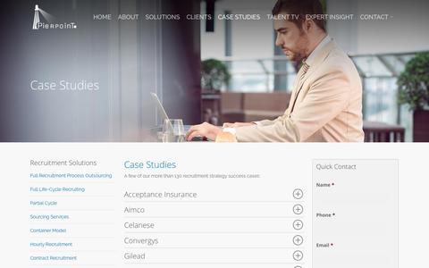 Screenshot of Case Studies Page pierpoint.com - Case Studies - Pierpoint International - captured Jan. 19, 2020