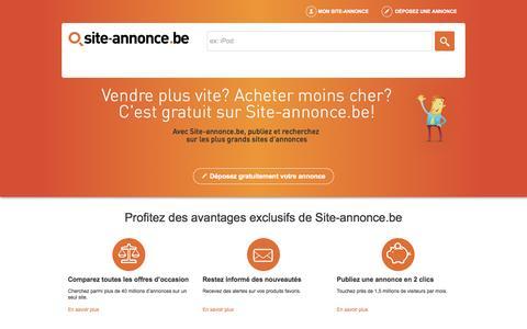 Screenshot of Home Page site-annonce.be - Site d'annonce gratuite en ligne | Déposez votre annonce en 2 clics - captured Aug. 5, 2015