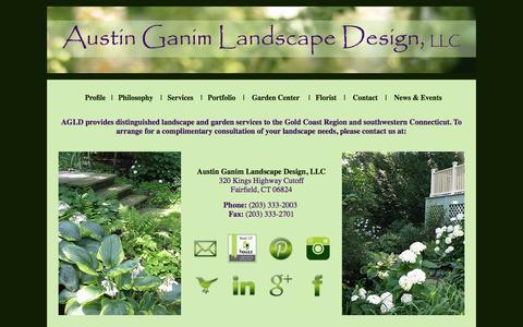 Screenshot of Contact Page austinganimlandscapedesign.com - Austin Ganim Landscape Design LLC - Fairfield, CT - Landscape Architecture, Garden Design, Installation & Maintenance - captured Oct. 4, 2014