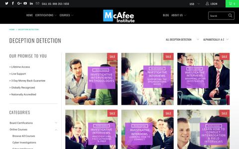 Deception Detection - McAfee Institute
