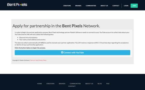 Screenshot of Signup Page bentpixels.com - Join   BentPixels - captured July 28, 2016