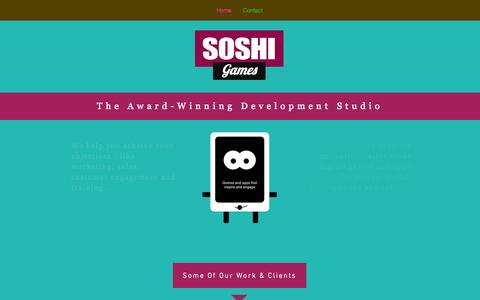 Screenshot of Press Page soshigames.com - SoshiGames: The Award-Winning Mobile Game Developer - captured Sept. 17, 2014