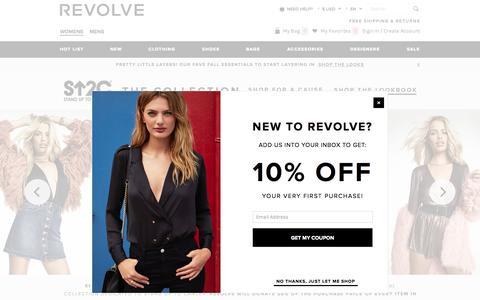 Screenshot of Home Page revolveclothing.com - Shop Designer Brands Online at REVOLVE - captured Oct. 1, 2015