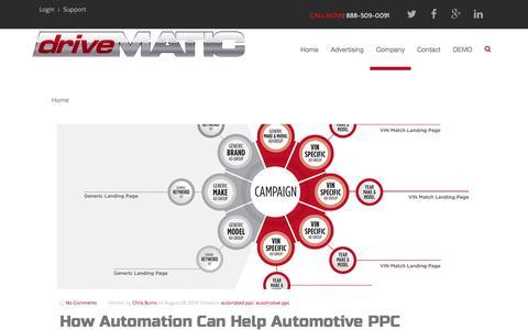 Screenshot of Blog drivematic.com - Drivematic - captured Feb. 9, 2016