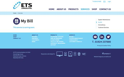 Screenshot of Login Page etscommunications.co.uk - Consultancy Services For Your Business Telecom Needs   ETS Communications - captured Sept. 26, 2018