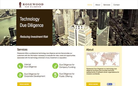 Screenshot of Home Page rosewoodd.com - Rosewood Due Diligence - captured Oct. 6, 2014