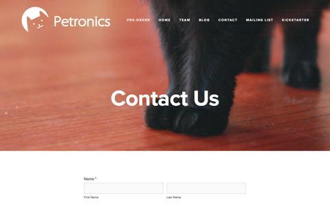 Screenshot of Contact Page petronics.io - Contact — Petronics - captured Feb. 16, 2017