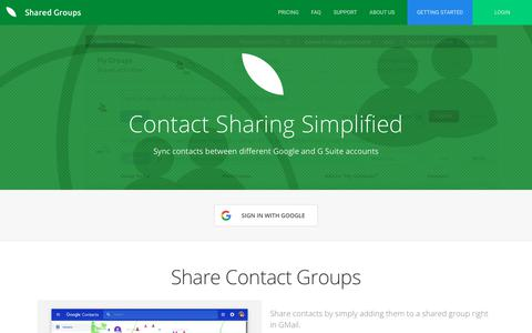 Screenshot of Home Page sharedgroups.com - Shared Groups - captured Oct. 21, 2018