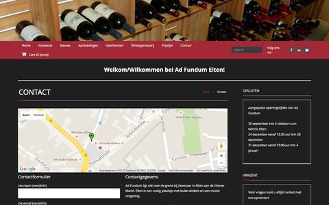 Screenshot of Contact Page adfundum.de - Contact | Ad Fundum - captured Dec. 23, 2015