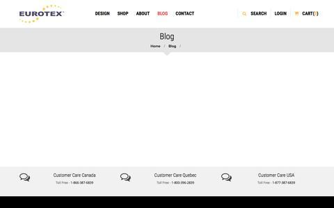 Screenshot of Blog eurotex.com - Blog - captured July 16, 2016