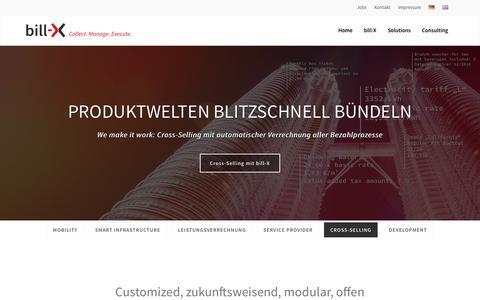 Screenshot of Home Page bill-x.de - Leistungsstarke Software für Billing und Prozessmanagement | bill-X - captured June 9, 2016
