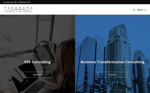 Screenshot of Home Page panorama-consulting.com - Panorama Consulting Group   Independent ERP Consultants - captured Sept. 15, 2019