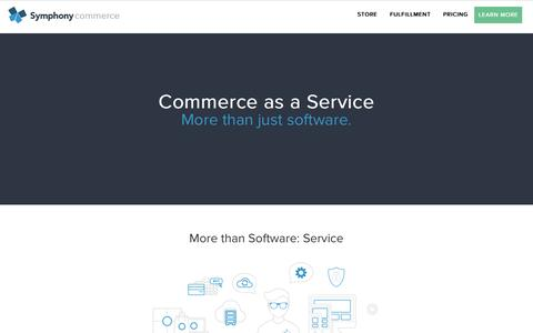 Screenshot of Home Page symphonycommerce.com - Commerce as a Service | Symphony Commerce - captured July 16, 2015