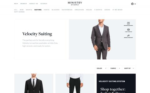 Velocity Suiting | Ministry of Supply