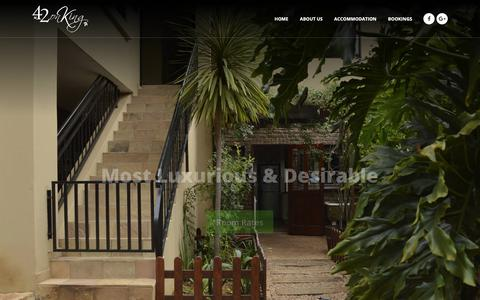 Screenshot of Home Page greenlea.co.za - 42onKing - 4 Star Luxury Centurion Guest House - captured Sept. 30, 2018